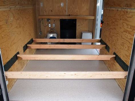 trailer bed e track racks and crossbars small spaces pinterest