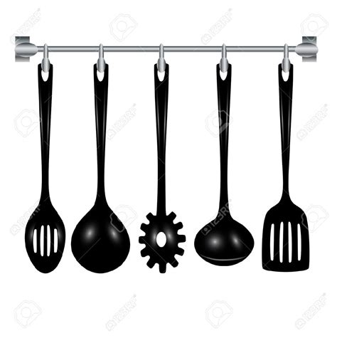 Kitchen Tools Clipart Black And White   ClipartXtras