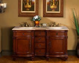 60 quot bathroom vanity cabinet travertine top lavatory