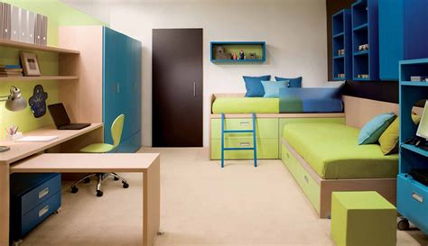 cool and ergonomic bedroom ideas for two children by modern and cool bedroom design ideas for two children