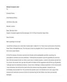 Complaint Letter Template Doctor 27 Complaint Letter Formats Free Premium Templates