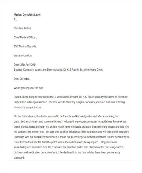 Complaint Letter German complaint sle against a doctor gallery cv
