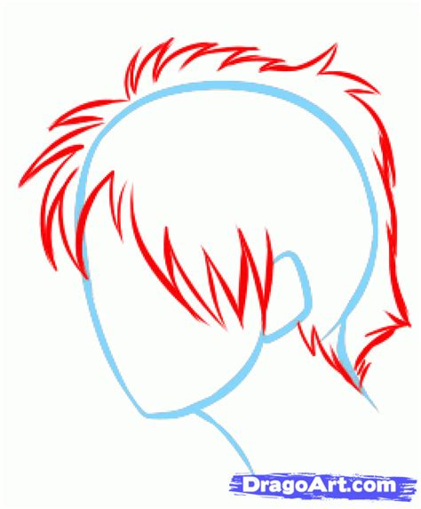 How to Draw Anime Hair, Draw Manga Hair, Step by Step