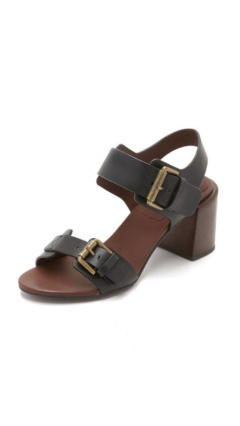 see by sandals see by chlo 233 romy city sandals in black lyst