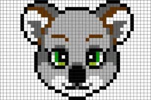 koala bear pixel art brik