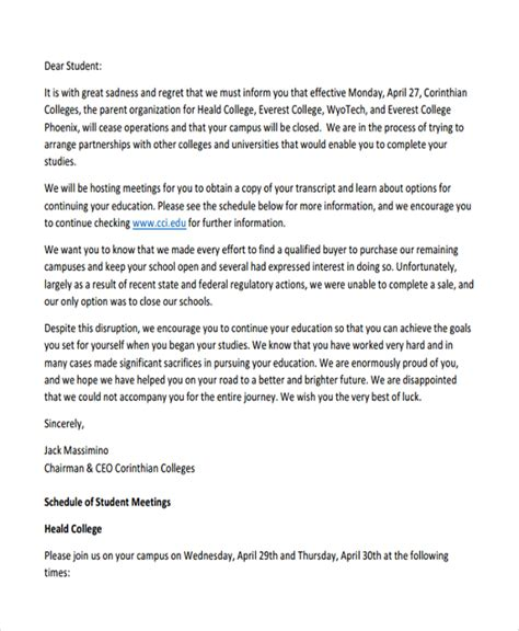 Sample Encouragement Letter Template   7  Free Documents