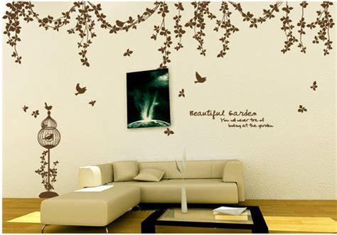 beautiful wall stickers for room interior design beautiful garden vine birds and butterfly wall sticker