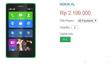 Hp Nokia Xl Android Terbaru harga hp nokia xl di indonesia hairstylegalleries