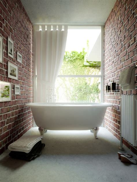 brick bathroom 39 stylish bathrooms with brick walls and ceilings digsdigs