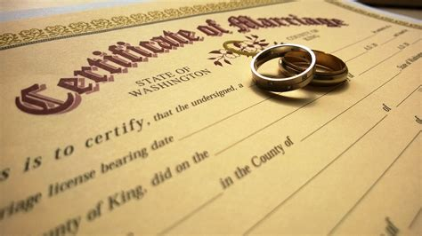 Is A Marriage Certificate Record Marriage Licensing King County