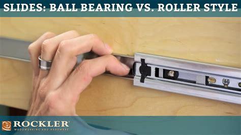 drawer  tutorial ball bearing  roller style youtube