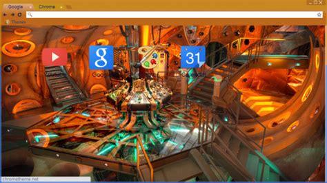 theme chrome doctor who tardis interior 11th first chrome theme themebeta
