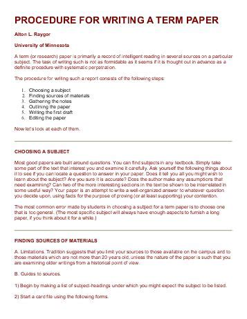 For Writing A Term Paper by Term Papers College Homework Help And Tutoring