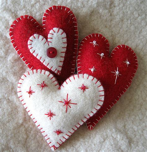 Handmade Felt Craft Patterns - felt ornaments flickr photo