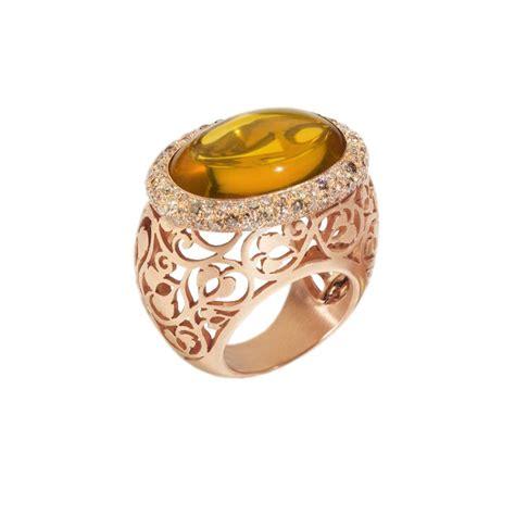 prezzo anello pomellato anello pomellato in oro rosa con ambra e diamanti mis 12