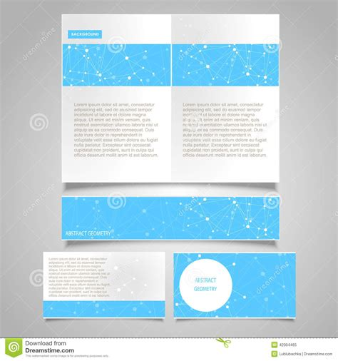 Medicare Card Themed Brochure Templates by Brochure Page Banner Business Card Vector Design