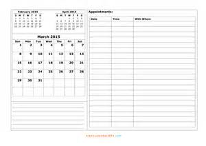 2015 Calendar By Month Free Printable 2015 Calendar By Month 2017 Printable