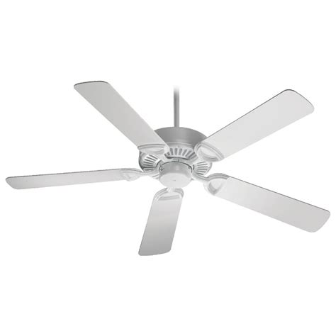 White Ceiling Fan Without Light Quorum Lighting Estate White Ceiling Fan Without Light 43525 6 Destination Lighting