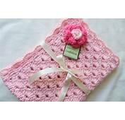 Baby Girl Blanket Crochet Sweet Pink Arch