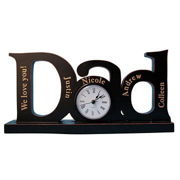 a personalized dad family clock father s day pinterest