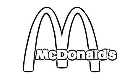 Mcdonalds Coloring Pages mcdonalds sign page coloring pages
