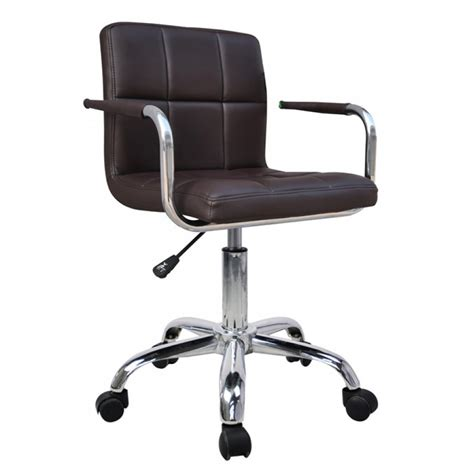 brown faux leather office chair brown faux leather swivel office chair