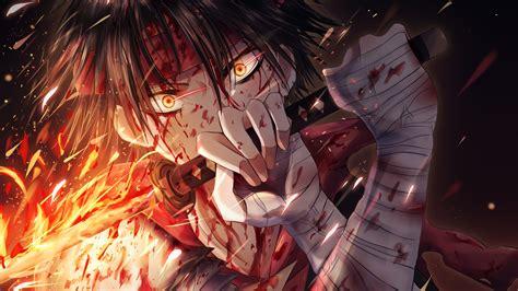 anime boy katana   wallpaper