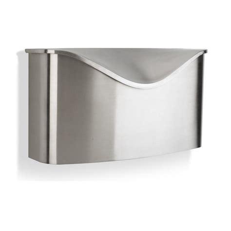 stainless steel mailbox umbra postino wall mount mailbox lid brush stainless steel