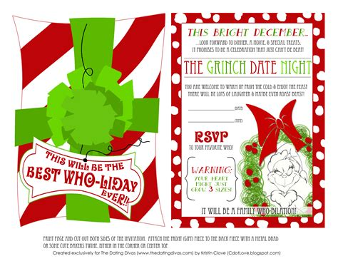 Grinch Card Template by 8 Best Images Of Grinch Invitations