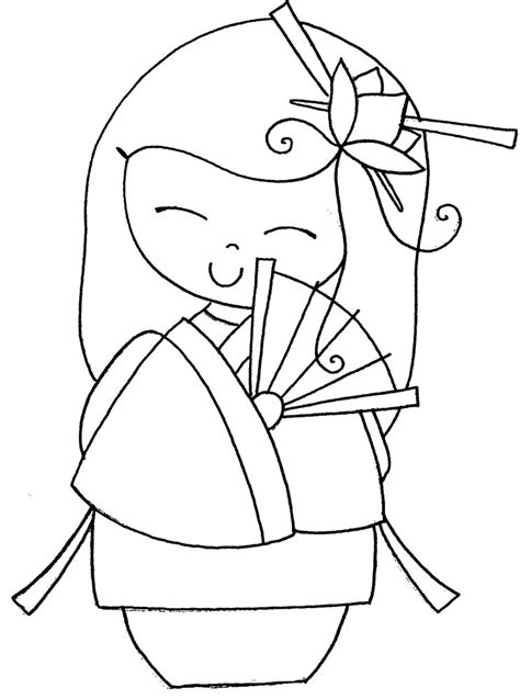 coloring pages kokeshi dolls free kokeshi dolls coloring pages