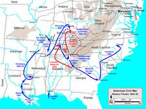 battle of shiloh civil war western caign map