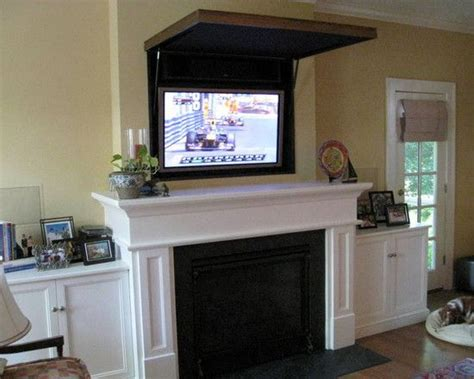 hiding a tv in the living room 1000 images about living room tv above fireplace on flat screen tvs tv panel and