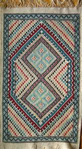White Flat Weave Rug Textiles In Africa Handmade Cloth