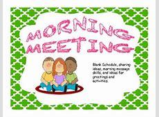 Morning Meeting by eltigger   Teachers Pay Teachers Free Clipart For Teachers Pay Teachers