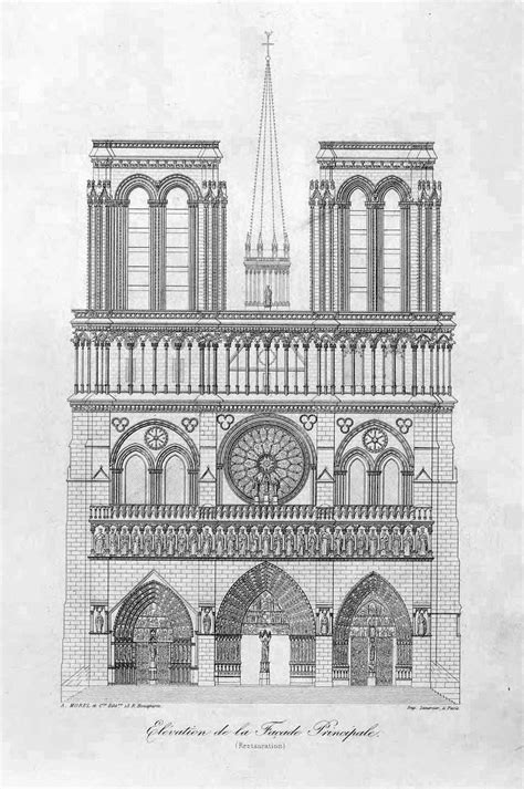 Front elevation of the Cathedral of Notre Dame, Paris