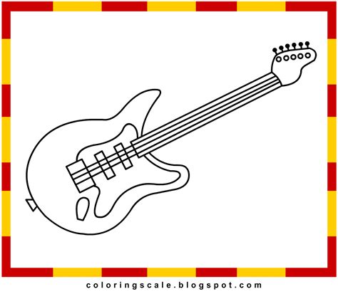coloring pages printable for kids guitar coloring pages