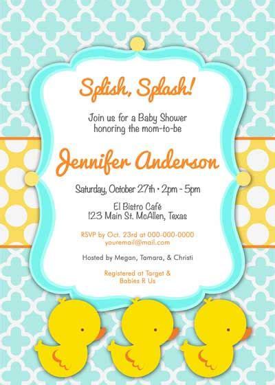 rubber duck baby shower invitation baby shower invitation rubber ducky cutie for by