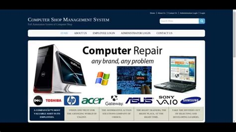 Shop Managers by Php Project On Computer Shop Management System