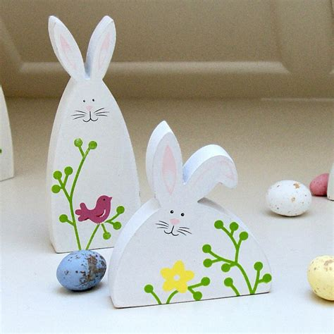 Easter Bunny Decor by Easter Decor Made Of Wood This Wooden Ornaments Decorate
