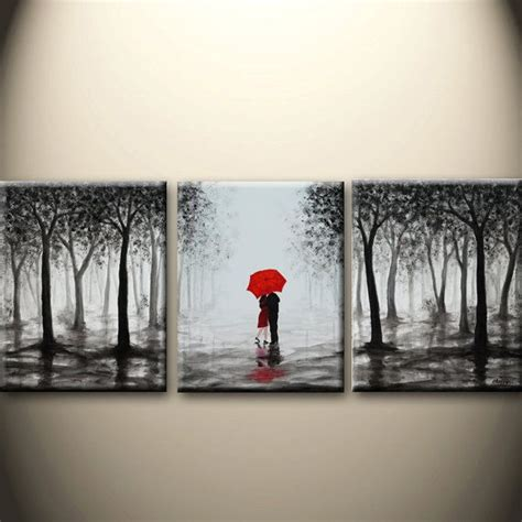 cheap 5 piece set red lovers tree loving landscape canvas 25 best ideas about three canvas painting on pinterest