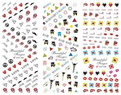 printable nail art stickers aliexpress com buy kawaii korea japanese pop art print