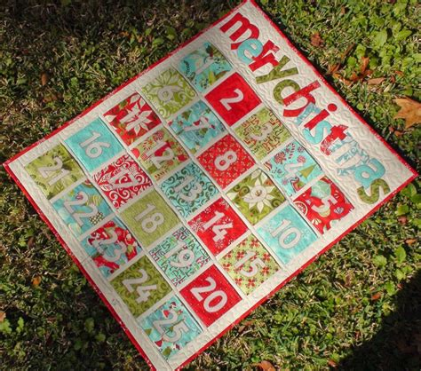 Patchwork Advent Calendar - quilted advent calendars to count to