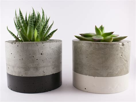 Planters Plants by Paint Dipped Concrete Planter Pot Black Felt