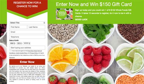 Whole Food Gift Cards - whole foods gift card giveaway us only