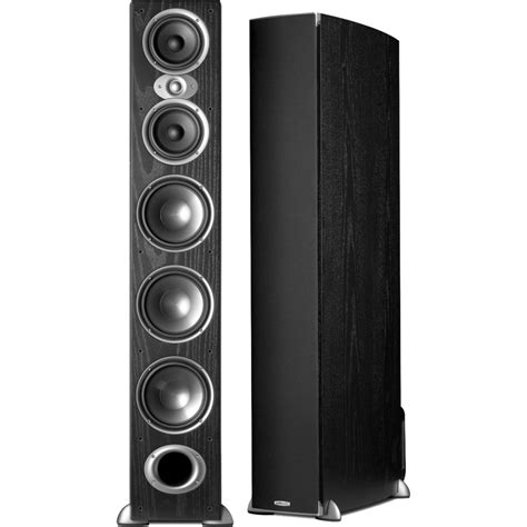 Polk Floor Standing Speakers by Polk Audio Rtia9 500 Watt Floorstanding Speaker Black Pair