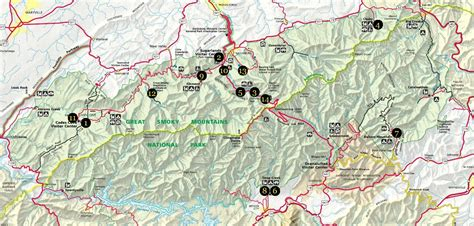smoky mountain national park trail map great smoky mountains national park hiking trails map
