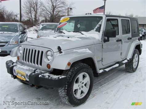 dark grey jeep 2008 jeep wrangler unlimited sahara 4x4 in bright silver