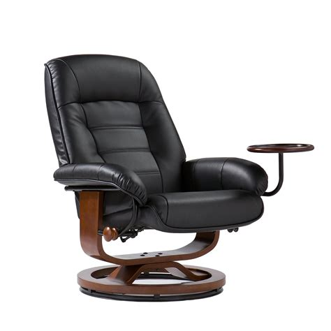 leather recliner ottoman com bonded leather recliner and ottoman black