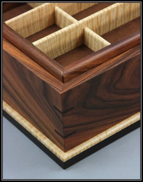 bolivian rosewood curly maple wenge jewelry box