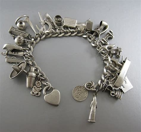 vintage and charms because vintage sterling silver charm bracelets tell stories